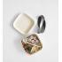 Lunch set in bio-afbreekbare bamboevezels. 4 bekers, 4 kleine bordjes, grote borden (Zwart, Grijs, Wit, Geel)