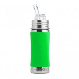 Evolutieve roestvrijstalen fles - 325 ml - Siliconen rietje - Groen