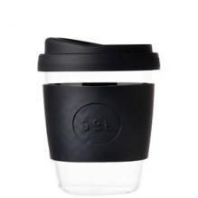 Glazen beker met tuitdop - 355 ml - Basalt Black