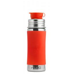Lange siliconen hoes voor evolutieve RVS drinkfles Pura - Oranje