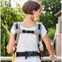 Babydrager carrier XT in biologisch katoen - Grey White