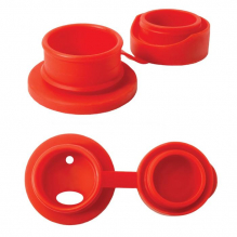 Bouchon sport en silicone pour bouteille en inox Pura - Rouge