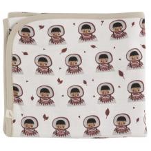 Couverture réversible en coton BIO - 72 x 72 cms -  Eskimo Spice
