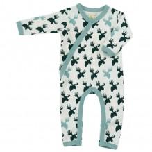 Pyjama - Combi en coton BIO avec pieds - Elan Black and white