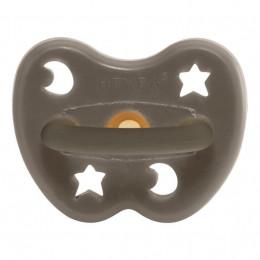 Orthodontische rubberen speen - Sterren en manen - Shitake grijs