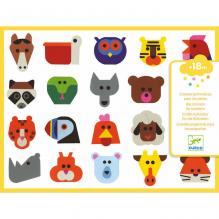 Grote stickers - Dierenhoofden