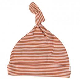 Babymutsje - Fine stripe sienna