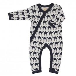 Kimono pyjama - Camel navy
