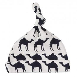 Babymutsje - Camel navy