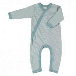Kimono pyjama - Fine stripe turquoise
