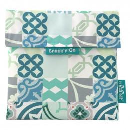 Afwasbaar en herbruikbaar snackzakje - Snack'n'Go - Patchwork Green