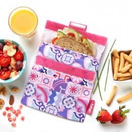 Afwasbaar en herbruikbaar snackzakje - Snack'n'Go - Patchwork Purple