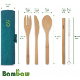 Bamboe bestekset - Lagune