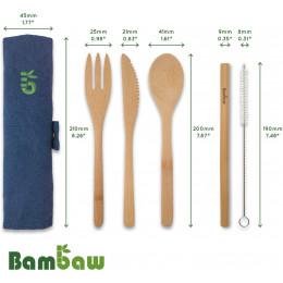 Bamboe bestekset - Olijf