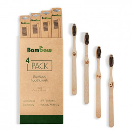 Bamboe tandenborstel (4 stuks) - hard