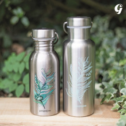 Gourde Isotherme Groovy Inox - imprimée Jungle vert - 500 ml