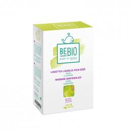 Lingettes lavanblles pour bébé - Tencel et coton Bio - 5 lingettes