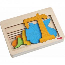 Houten puzzel Bouwvoertuigen