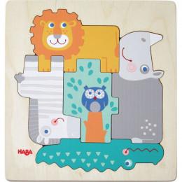 Houten puzzel - Beestachtig wild