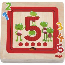 Houten puzzel Cijfervrienden