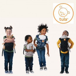 Porte poupée Tula mini - à partir de 18 mois - Coeurs bleu
