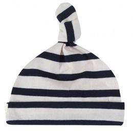 BIO Katoenen Babymutsje - Breton Stripe Navy