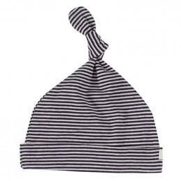 BIO Katoenen Babymutsje - Fine Stripe Navy