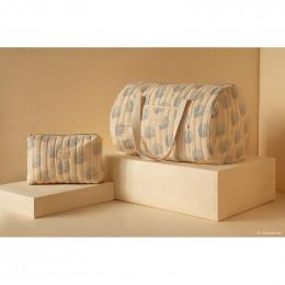 Toilettas Travel - Blue gatsby & Cream