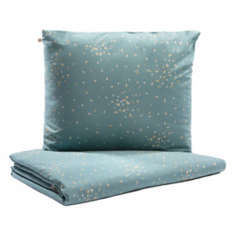 Bedset Himalaya 1-persoons - Gold confetti / Magic green