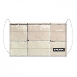 Mondkapje in bio-katoen - Tiles Pearl White