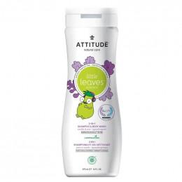 2 en 1 Shampooing et gel nettoyant - Little leaves -  vanille et poire - 295 ml