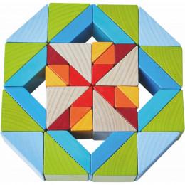 3D-compositiespel Blokkenmozaïek