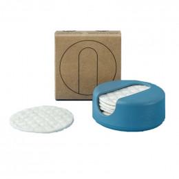 LastRound - 7 disques démaquillants en étui - Bleu
