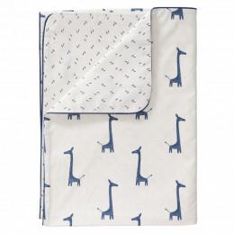 Ledikant dekbedovertrek - giraf indigo blue (100x135)