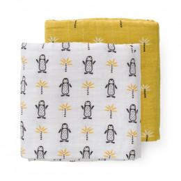 Set van 2 tetradoeken Pinguin - 120 x 120 cm