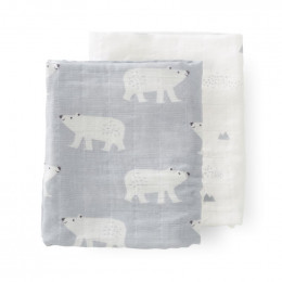 Set van 2 tetradoeken Polar Bear - 70x60 cm