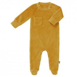 Pyjama velours met voetjes Mimosa