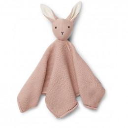 Milo knuffeldoekje Rabbit rose