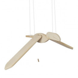 Cigogne volante en bois naturel