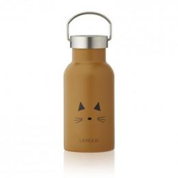Anker drinkfles - Cat mustard