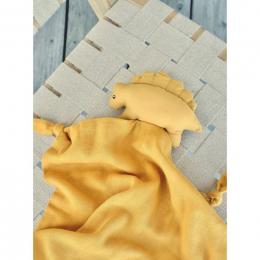 Agnete knuffeldoekje  - Dino yellow mellow