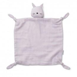 Agnete knuffeldoek - Cat light lavender