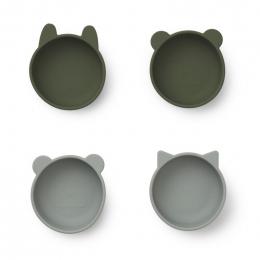 Set van 4 kommetjes Iggy - Hunter green mix