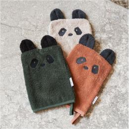 Set van 3 Sylvester washandjes - Panda mix