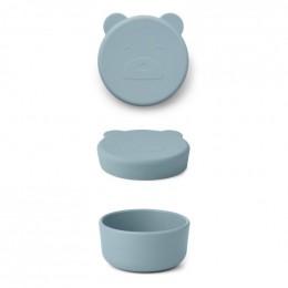 Carrie snackdoosje - Mr bear sea blue