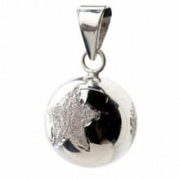 Zilveren bola ster/bloem/hart