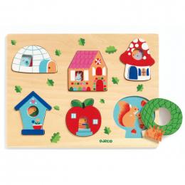 Houten puzzel - Coucou-house