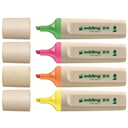 4 X Fluo stift - Ecologic Edding