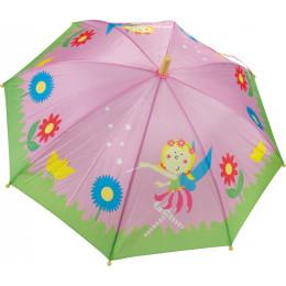 Prinsessenparaplu met houten handvat Vanaf 36 maanden