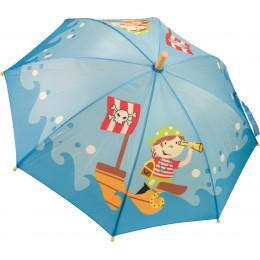 Piratenparaplu met houten handvat Vanaf 36 maanden